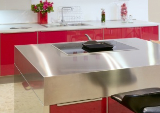 Stainless Kitchen Island Serving Las Vegas We Fabricate Steel Countertops